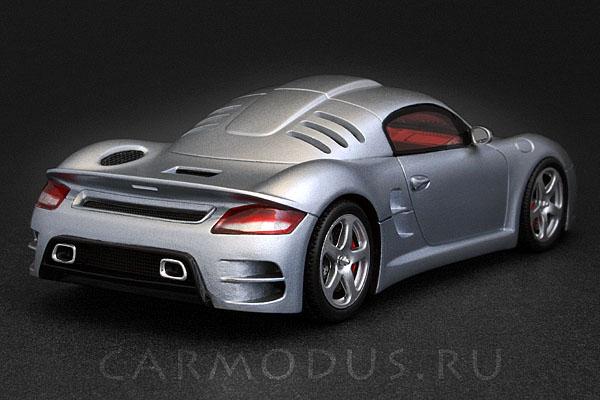 Porsche RUF CTR 3 presentation (2007) Road Car Silver – Spark 1:43